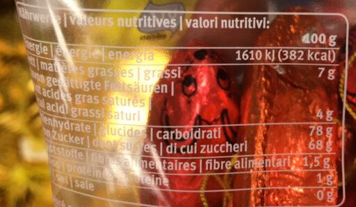 Chocolat noir fourré fondant sucré - Nutrition facts - fr