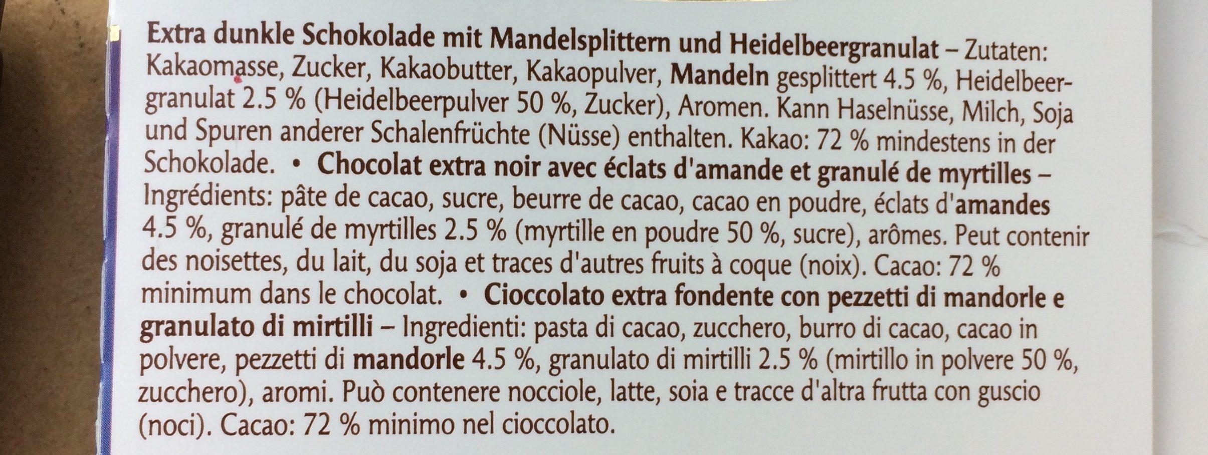 Supreme Amandes & Myrtilles - Ingredients