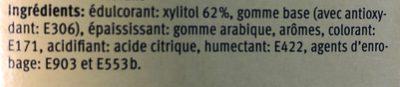 Candida dental gum - Ingredients - fr