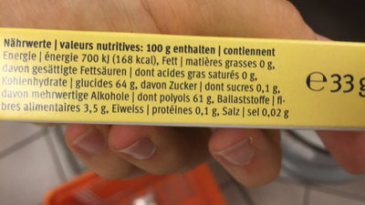 Candida dental gum - Nutrition facts - fr