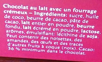 Adoro Lait - Ingredients - fr