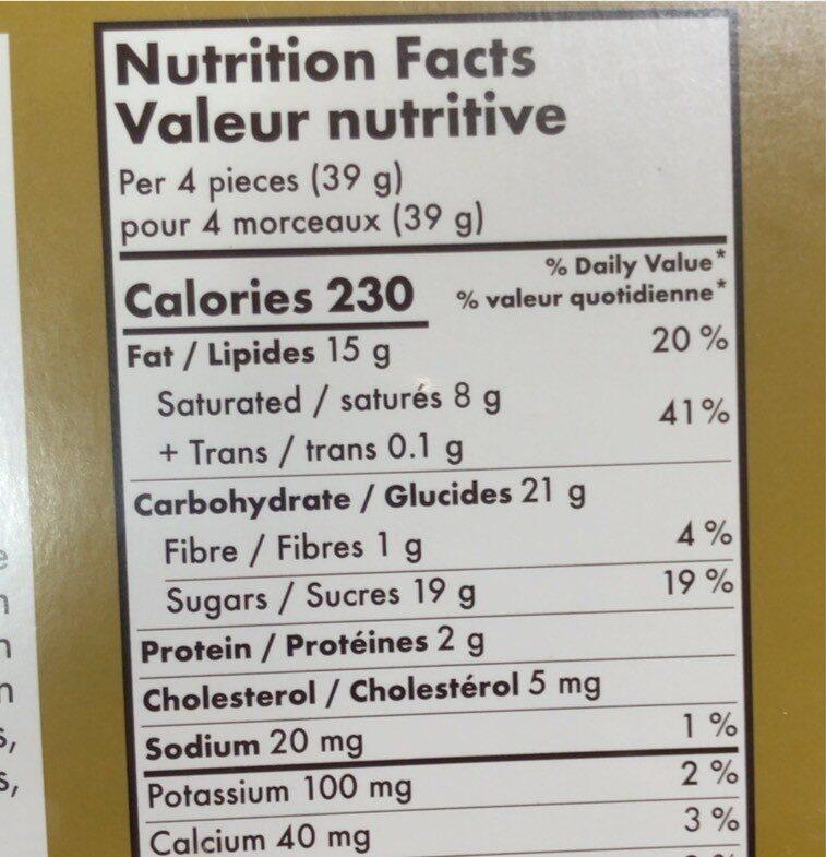 Chocolats suisses assortis - Nutrition facts - fr