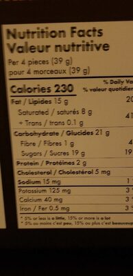 Chocolats assortis - Nutrition facts - fr
