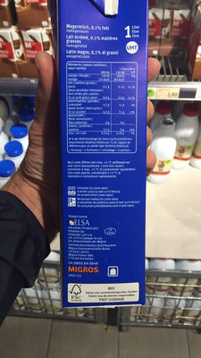 Milch UHT Léger - Ingrédients