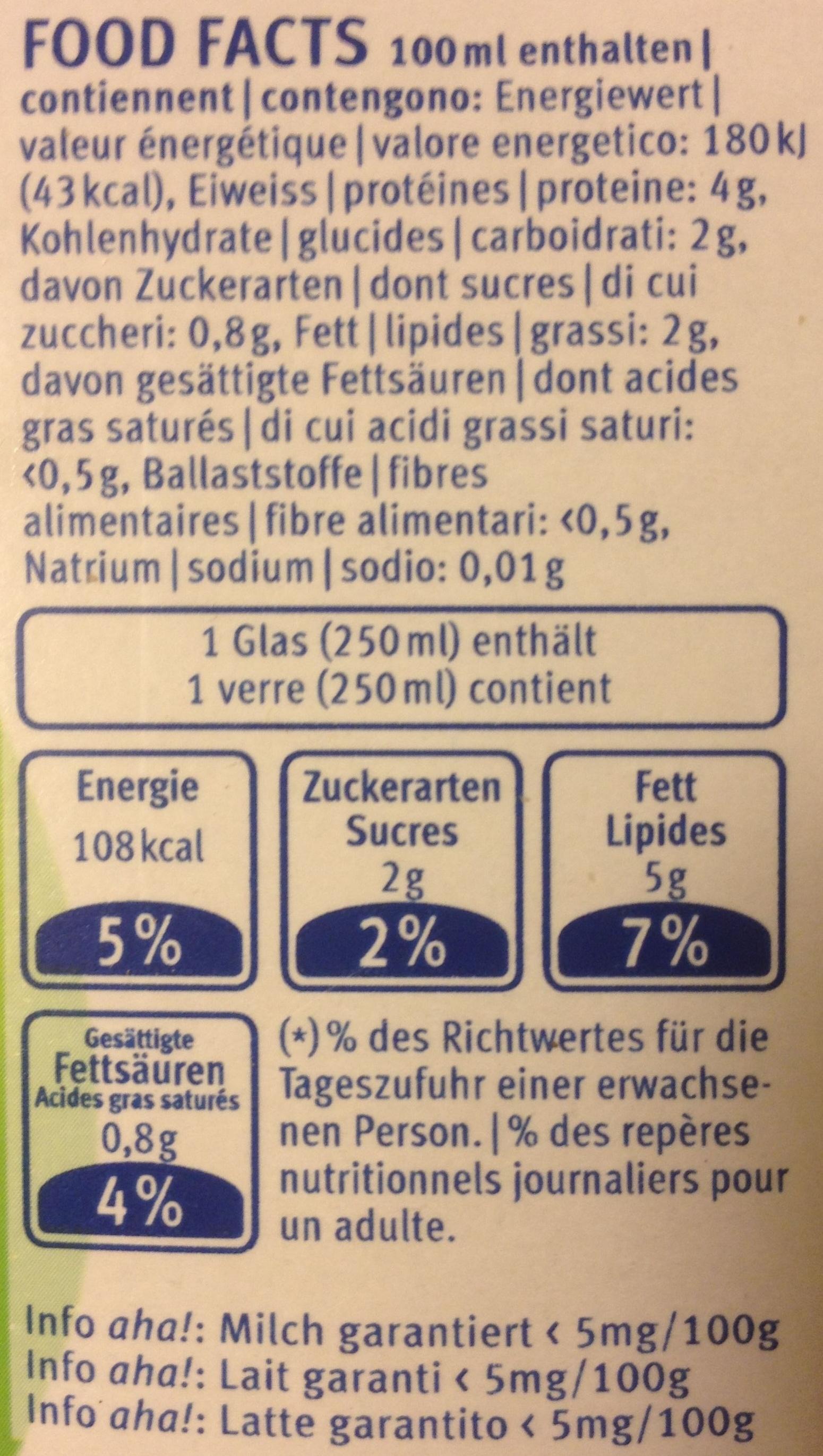 Drink Nature - Voedingswaarden
