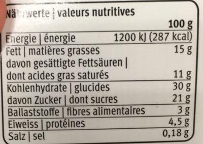 Dessert Chocolat Couronné de Chantilly - Informations nutritionnelles - fr