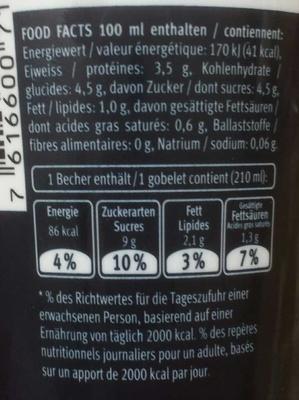 Grande café Zero - Ingredients - fr