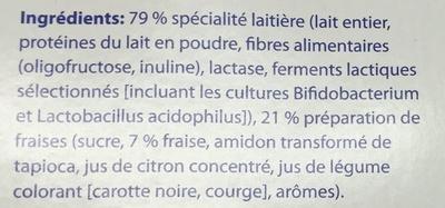 Yaourt saveur Fraise sans lactose - Ingredients - fr