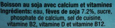Soya drink - Ingrédients - fr