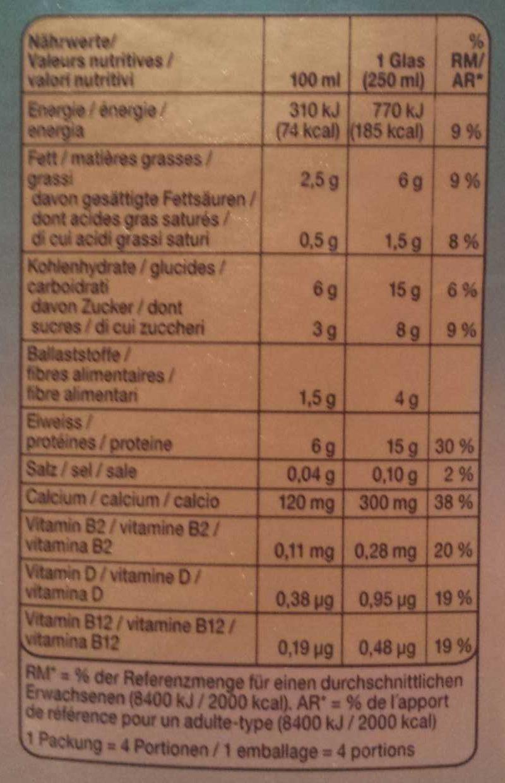 Soya drink - Informations nutritionnelles - fr