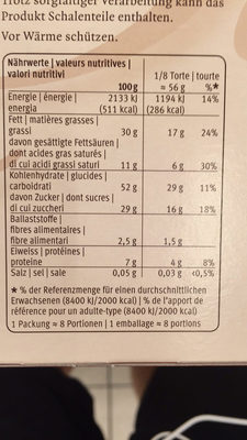 Gâteau Aux Noix Des Grisons - Informations nutritionnelles - fr