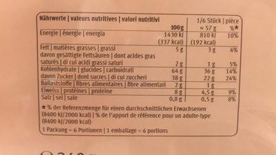 Biscuit Chocolat Fond de biscuit - Nutrition facts - fr