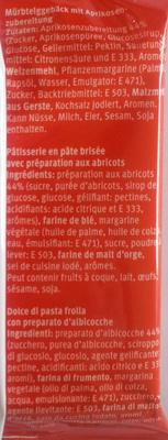 Tartelette à l'abricot - Ingredients
