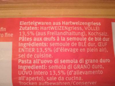 Spaghetti - Ingredients