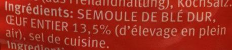 Nouilles Frisées - Inhaltsstoffe - fr
