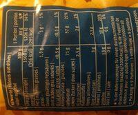 Coquillettes - Valori nutrizionali - fr