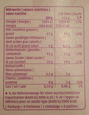 Migros Amarello Torte - Informations nutritionnelles - fr