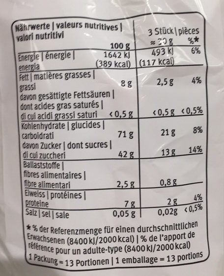 Weiche Leckerli - Informations nutritionnelles - fr
