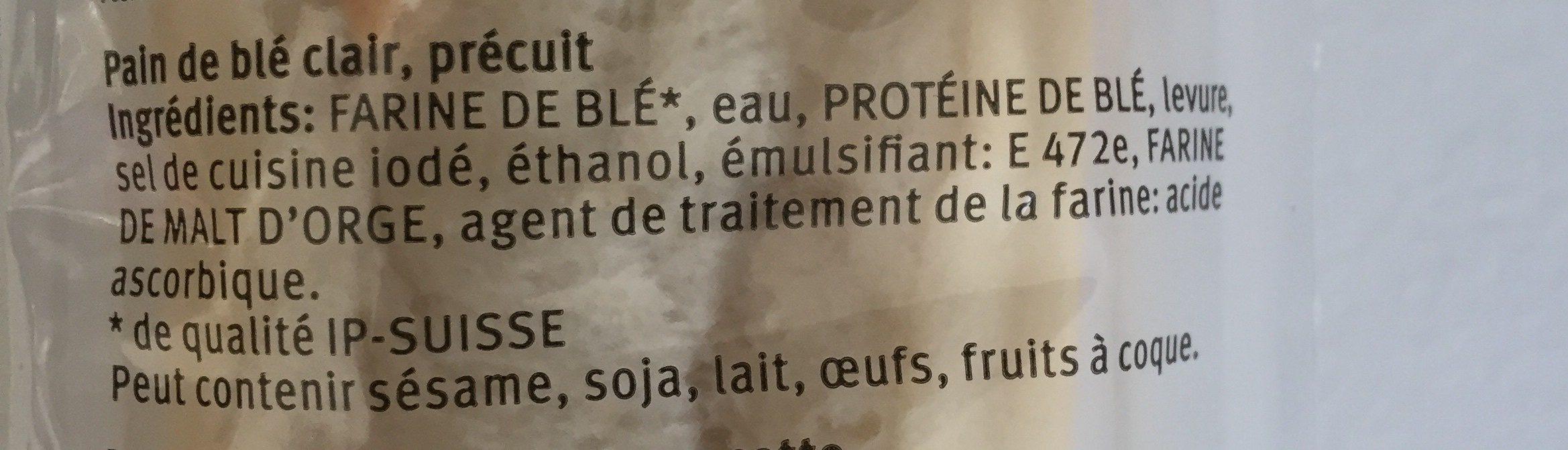 Baguettes - Ingrédients - fr