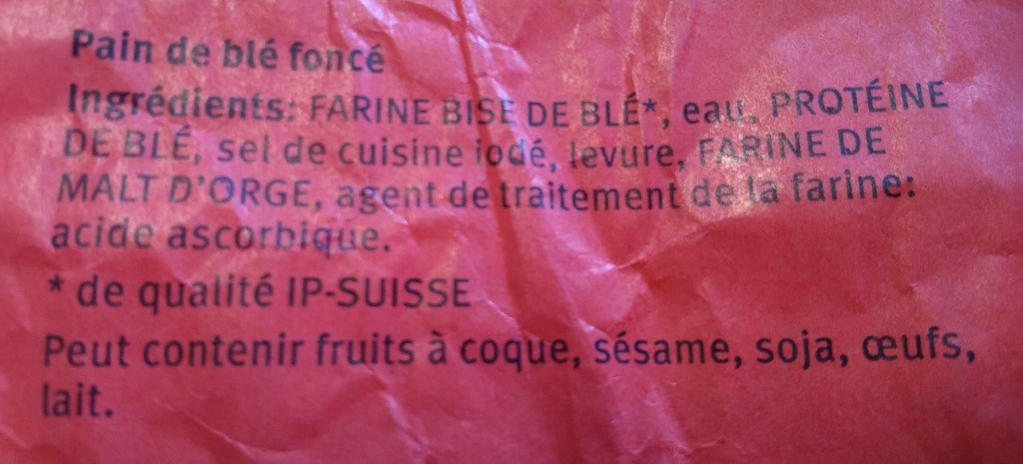 Pain Bis - Ingredienti - fr