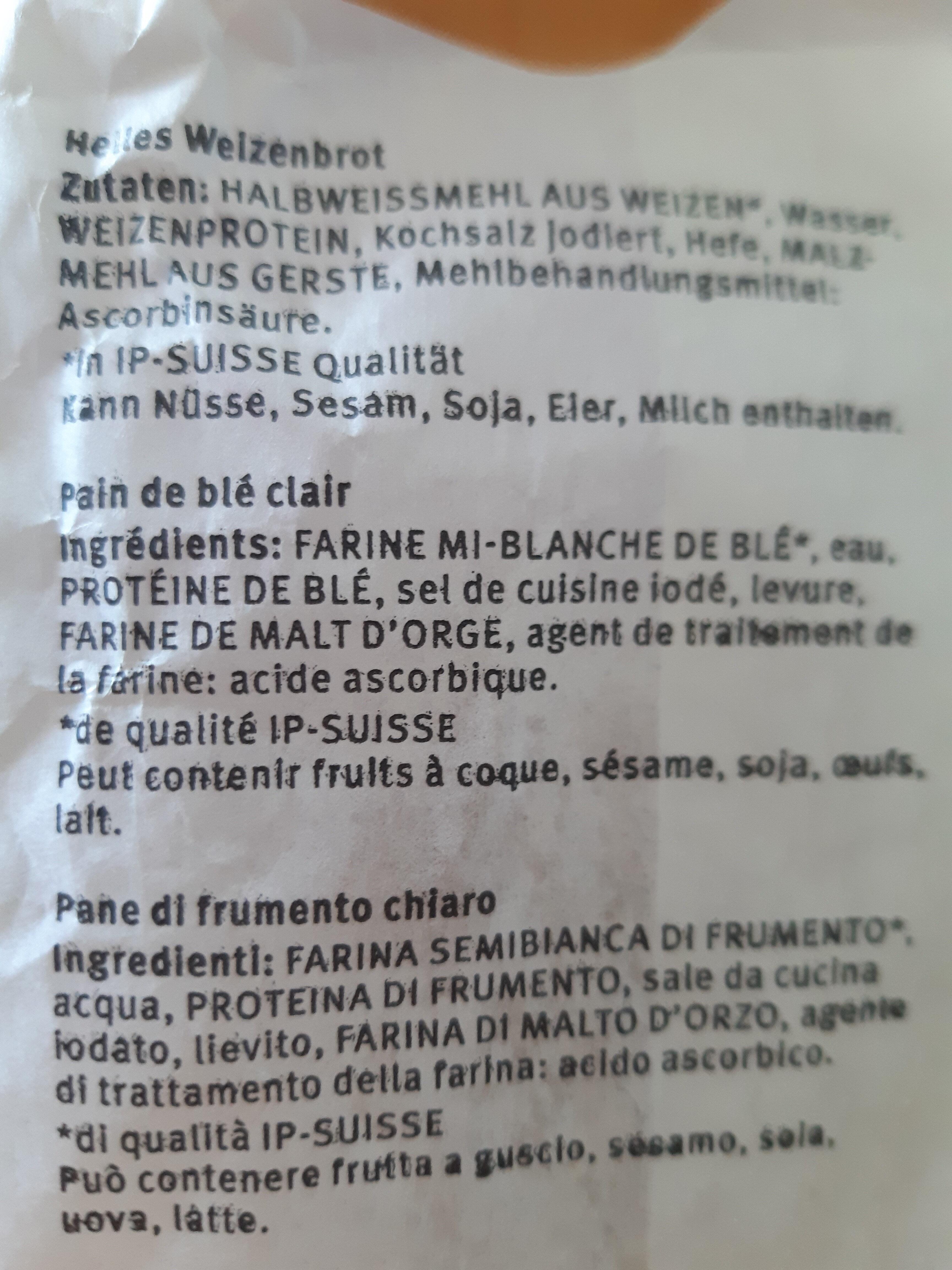 Pain mi-blanc - Ingredienti - it