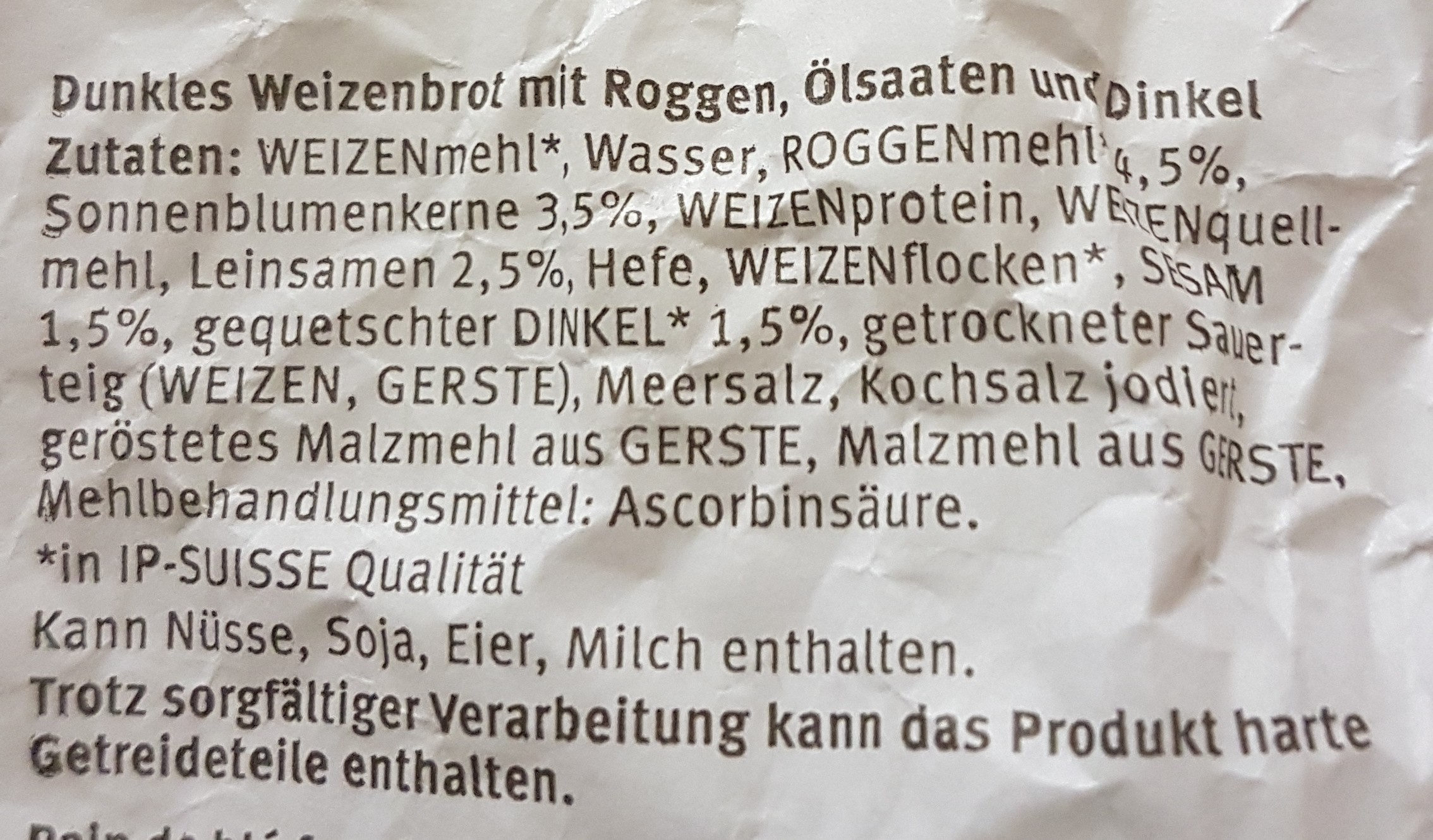 Kornknacker-Brot - Ingredients