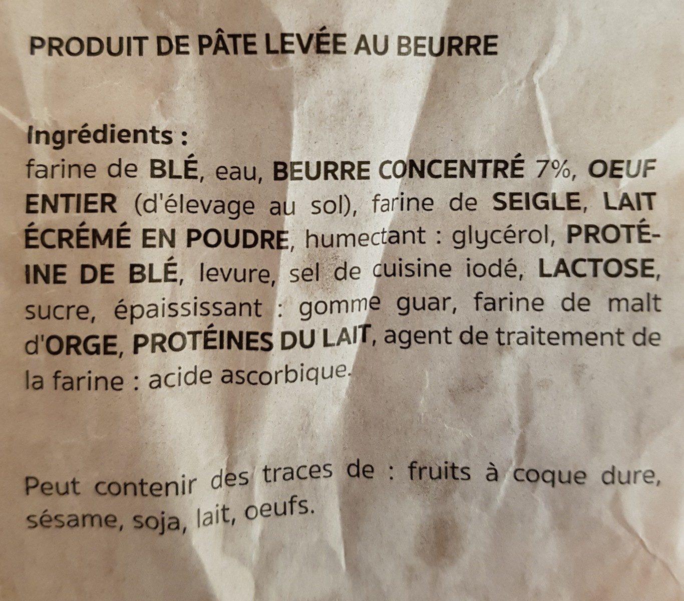Migros Tresse au beurre 300g - Ingrédients - fr