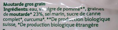 Migros Bio Senf Grobkörnig - Ingredients