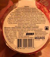 Goblet framboise - Voedingswaarden - fr