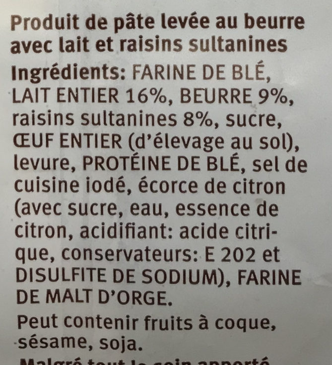 Taillaule - Ingredienti - fr