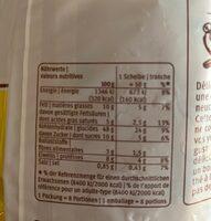 Taillaule - Informazioni nutrizionali - fr