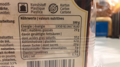 Cake Branche Chocolat de Mamie - Nutrition facts