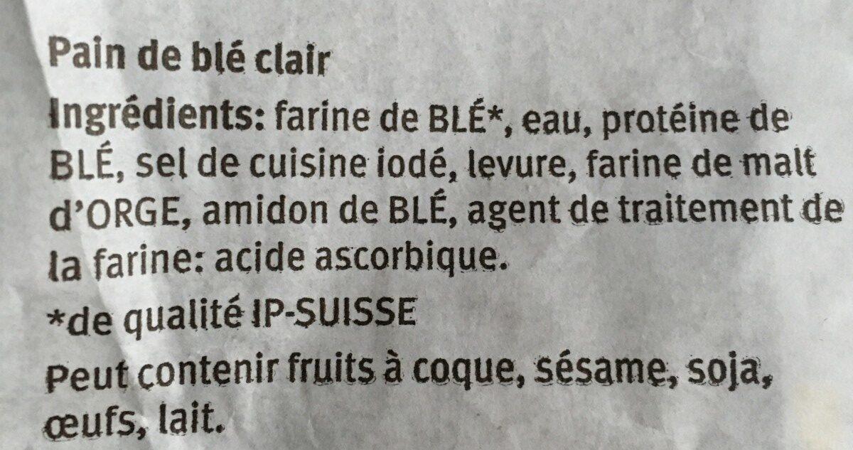 Pain bucheron - Ingrédients - fr