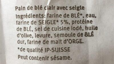 Baguette au four à pierre - Ingredienti - fr