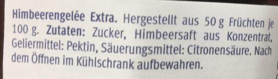 Himbeeren Gelée Extra - Ingrediënten