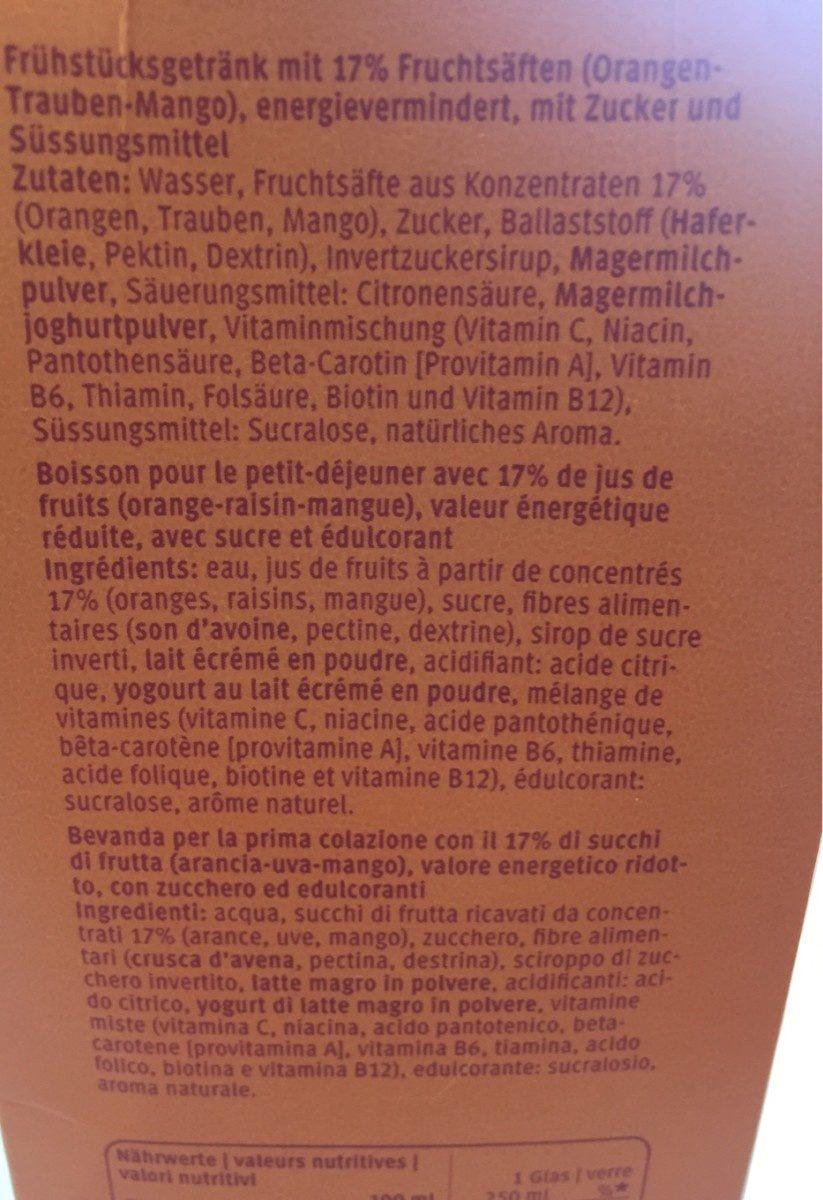 Actilife Bun Di - Ingredienti - fr