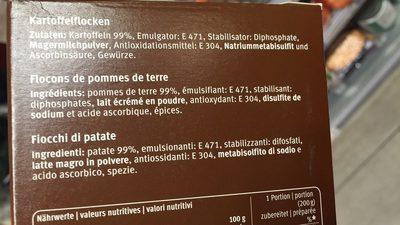 Purée de pomme de terre - Ingredients