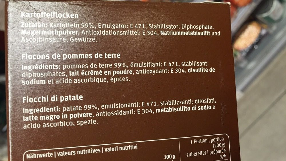 Purée de pomme de terre - Ingredients - fr
