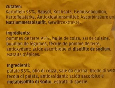 Original Röstis - Ingredienti - fr