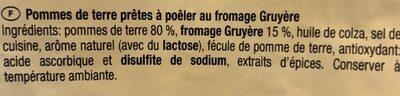 Rosti Gruyère - Ingrédients - fr