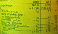 Minestrone Bon Chef - Voedingswaarden - fr