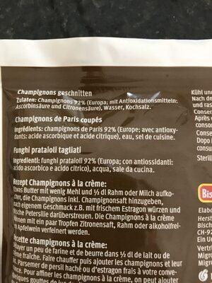 Champignons de Paris - Ingredienti - fr