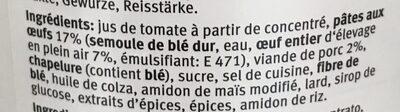 Ravioli aux oeufs - Ingredients