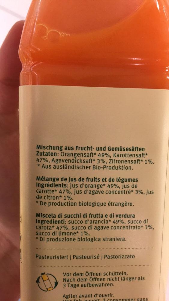 Orange-carotte agave-citron - Ingrediënten - fr