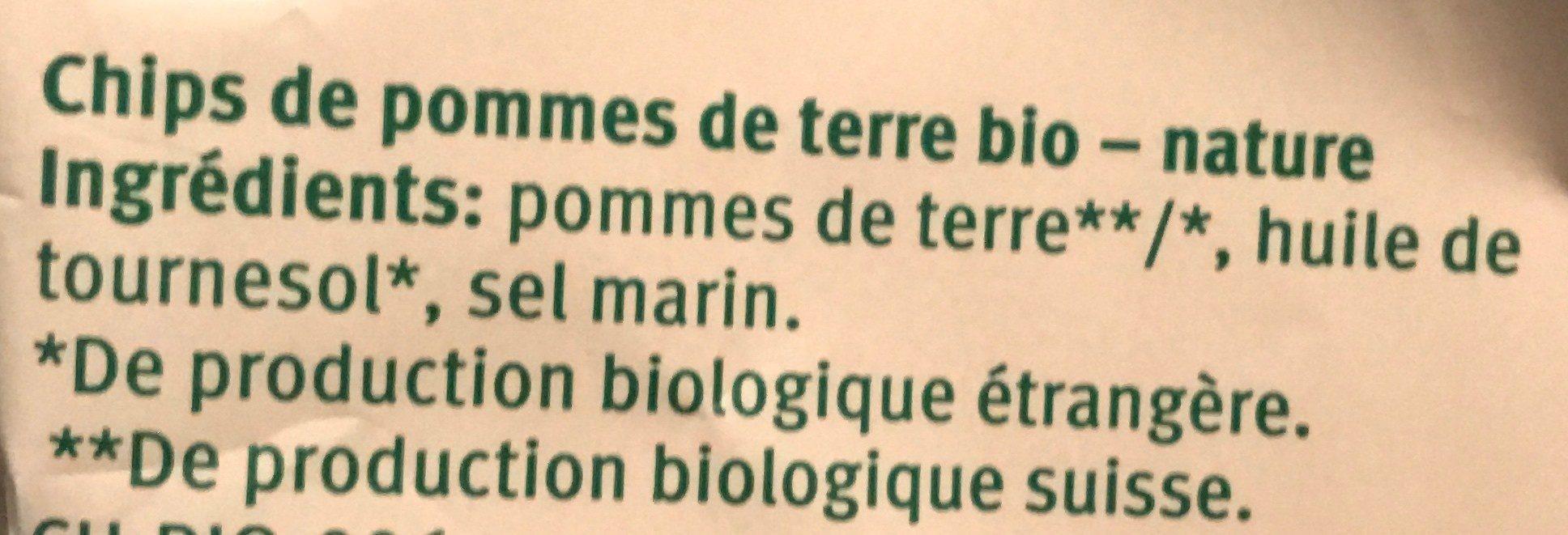 Bio Chips Nature - Ingredienti - fr
