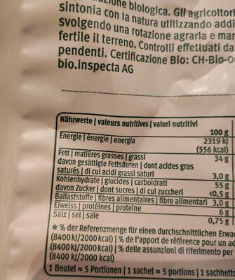 Bio Chips Nature - Valori nutrizionali - fr