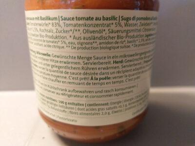Salsa di pomodoro au basilic - Produit - fr