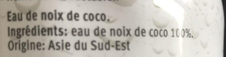 Coco Water Pur - Migros - 330 ML - Ingredients - fr