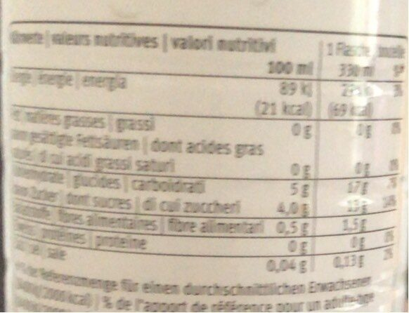 Coco Water Pur - Migros - 330 ML - Nutrition facts - fr