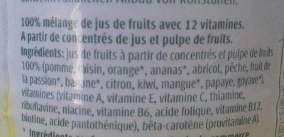 Sarasay Multivitamin - Ingredienti - fr